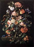 HEEM, Jan Davidsz. de Flowers in Glass and Fruits g oil painting